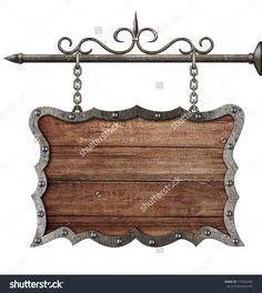 stock-photo-medieval-wooden-sign-board-hanging-on-chains-isolated-on-white-179260340.jpg (1430×1600)