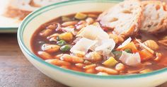 A hearty comforting minestrone soup for those cold winter nights.