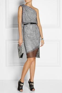 Dion Lee   Asymmetric draped net dress    NET-A-PORTER.COM