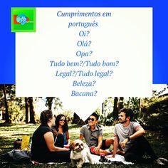 """aprendendo.portuguêsbrasileiro on Instagram: """"🙋🏻♀️(EN) Greetings in Portuguese 🙋🏻♂️(ES) Saludos en portugués  . . . . . . . . . . . . . . . . . . . . . . . . . . . . . . . . . . . . .…"""" Learn Brazilian Portuguese, Instagram Accounts, Ads, Learning, Poster, Studying, Teaching, Billboard, Onderwijs"""
