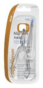 Sally Hansen Beauty Tools, Nip'em Neat-Cuticle Nipper with pusher, 1/2 Jaw by Sally Hansen. $8.79. Gently preps cuticles for cutting. Precise blade. Safely trims with precision. Sally knows nails are the best accessory. Now Sally makes it easy to get a salon effect, anytime, any place. Find your favorite today.