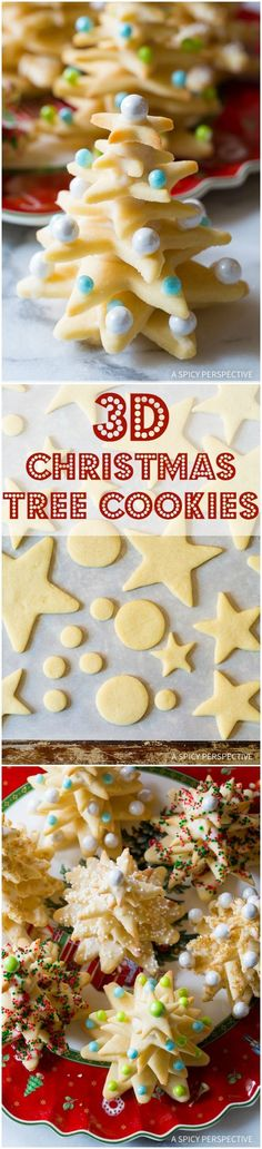 Christmas Tree Cookies Try these amazing Christmas Tree Cookies on ASpicyPerspective that make fantastic edible gifts!Try these amazing Christmas Tree Cookies on ASpicyPerspective that make fantastic edible gifts! Christmas Tree Cookies, Christmas Sweets, Christmas Cooking, Christmas Goodies, Holiday Cookies, Holiday Treats, Holiday Recipes, Xmas Food, Edible Gifts