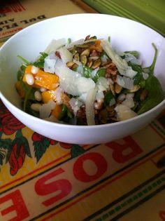 lovely salads served @ Volunteer Park Cafe & Marketplace in Seattle