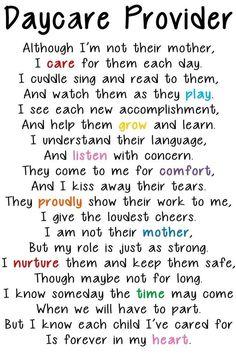 Daycare Provider Poem