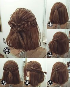 Haarschmuck - New Site Kawaii Hairstyles, Work Hairstyles, Pretty Hairstyles, Braided Hairstyles, Wedding Hairstyles, Short Hair Makeup, Short Hair Updo, Shot Hair Styles, Curly Hair Styles