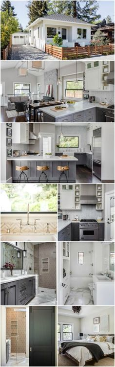 Californian Interior Designer Designs Dreamy Tiny House in Napa Valley - Lindsay Chambers has created a name for herself in the interior design markets of Los Angeles and San Francisco and after seeing this incredible tiny house, its easy to understand w Interior Design Minimalist, Interior Design Kitchen, Room Interior, Interior Colors, Gray Interior, Small House Interior Design, Interior Designing, Small House Interiors, Tiny Homes Interior