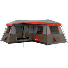 3 Room Cabin Tent,16x16. Sleeps 12, Poles Pre-attached, 2 Min. To Set Up, Fits 3 Queen Airbeds. Includes a Carry Bag, Stakes, Rainfly. Free Standing Frame Design. No Assembly Required. Perfect for Family Camping Trips. Large Front Awning. - http://survivingthesheep.com/3-room-cabin-tent16x16-sleeps-12-poles-pre-attached-2-min-to-set-up-fits-3-queen-airbeds-includes-a-carry-bag-stakes-rainfly-free-standing-frame-design-no-assembly-required-perfect-for-fam/