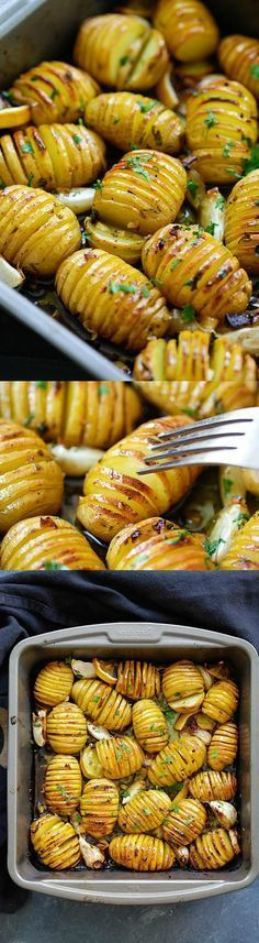 Lemon Herb Roasted Potatoes – BEST roasted potatoes you'll ever make, loaded with butter, lemon, garlic and mins active time! Vegetable Dishes, Vegetable Recipes, Vegetarian Recipes, Cooking Recipes, Healthy Recipes, Smoker Recipes, Barbecue Recipes Vegetables, Bbq Recipes Sides, Best Bbq Recipes