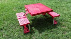 US $34.99 Vintage Portable Folding Picnic Camping Table Set w/ Seats