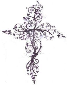 cross+tattoos+for+women   Feminine Cross Tattoos For Women Cross Tattoo Design By ZanieLArch On ...