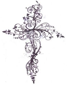 cross+tattoos+for+women | Feminine Cross Tattoos For Women Cross Tattoo Design By ZanieLArch On ...
