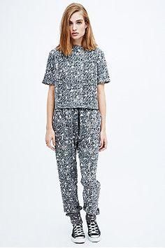 Pippa Lynn Geometric Luxe Top in Grey
