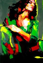 Francoise Nielly is a phenomenal French artist that uses oil and a knife to sculpt vibrantly breathtaking and colorful paintings. Tableau Pop Art, L'art Du Portrait, Colorful Paintings, Art Paintings, Arte Pop, Oeuvre D'art, Art And Architecture, Art Oil, Traditional Art