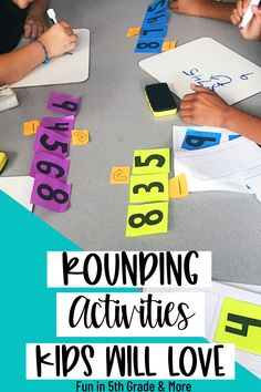 Rounding activities kids will LOVE! Rounding is a tough skill for some kids. In this post you'll find how I practice rounding with upper elementary students with hands on activities and games… More