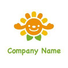 ロゴデザインNo733(太陽のロゴ/子供も喜ぶかわいいエコなイメージ) 拡大画像1