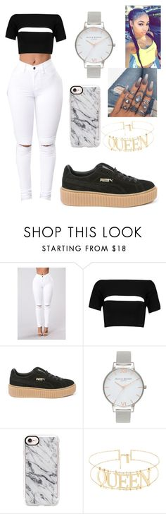"""""""it's lit"""" by stylist104 ❤ liked on Polyvore featuring T By Alexander Wang, Puma, Olivia Burton and Casetify"""