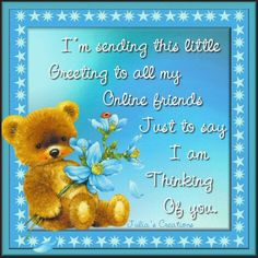 Julia's Creations: Online friends - Thinking of you.