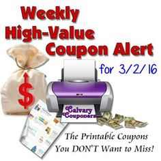 hump day high value coupon alert for march 2 2016 calvary couponers and crafters