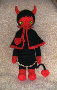 devil mod made by Christine H. / based on a lalylala crochet pattern