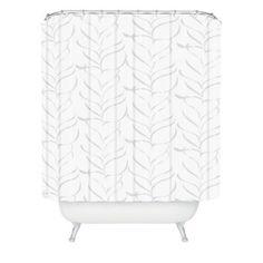 DENY Designs Vy La Cool Breezy Fern Shower Curtain in Grey - BedBathandBeyond.com