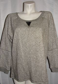 NEW olive & oak Top Women's Plus Sz 2X Military Olive Elbow Patch 3/4 Slv Shirt #oliveoak #KnitTop #Casual