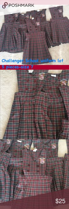 Challenger School uniforms- size 7 This lot is for Challenger School uniforms- 5 pieces size 7. Excellent condition. Original price is $49 each. Comes from a smoke and pet free home. Other
