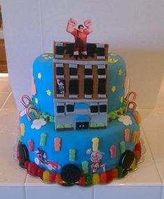 Wreck it Ralph cake that my Harley asked me to make for her!