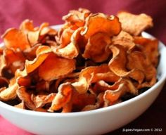 I Eat Plants: Marmite Sweet Potato Chips (Baked or High Raw) - Small Bites