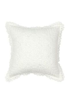 This 100% cotton scatter cushion has crochet detail and will give any bedroom a feminine touch of traditional elegance. Measures 40x40cm.
