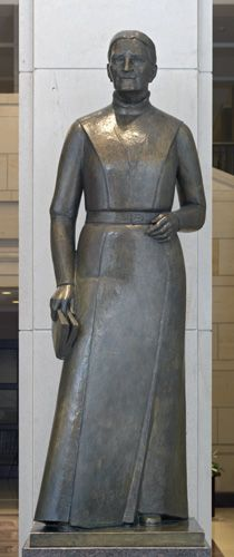 """Sanford was also a leader in the conservation and beautification program of her new state. She traveled throughout the United States delivering more than 1000 patriotic speeches, the most famous being the powerful address """"An Apostrophe to the Flag,"""" that she delivered at a national Daughters of the American Revolution convention."""