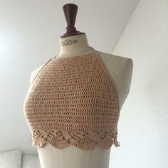Handmade crochet halterneck