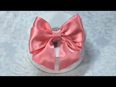 New Tutorial How to make Quick and Easy Ribbon Bow, DIY, Design Bow #2 - YouTube