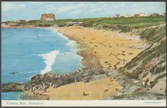 Fistral Bay, Newquay, Cornwall, c.1960s - Salmon Postcard