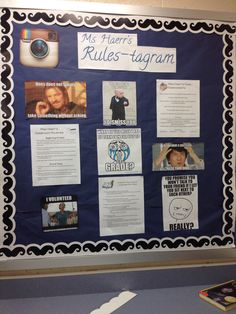 My Instagram inspired rules board for the year!