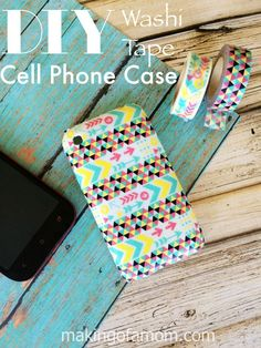 By using some plain cell phone cases and a couple different patterns of Washi tape, you can make yourself a customized case or a darling gift.