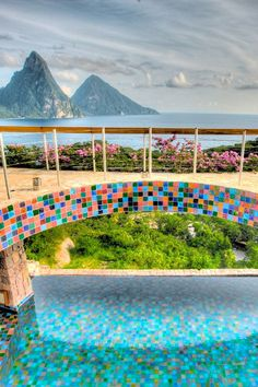 Beautiful views can be had from Jade Mountain in St Lucia
