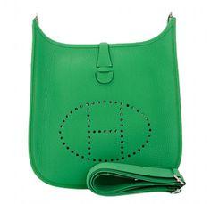Hermes Beige Toile H \u0026amp; Caramel Leather Evelyne GM Bag | Hermes ...