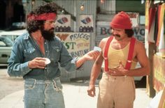 My cousin and I secretly listened to her brother's Cheech and Chong records...they were so bad and funny...