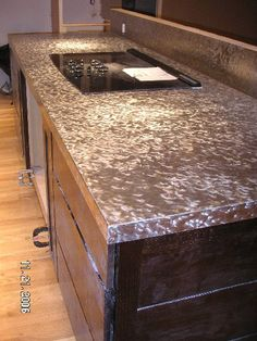 Ways To Make A Stainless Steel Countertop More Attractive And Unique    Textured Stainless Kitchen Countertop