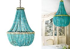 Lighting can be an unexpected way to bring color into a space - The Heady Chandelier from Currey & Co proves just that! #decor #lighting