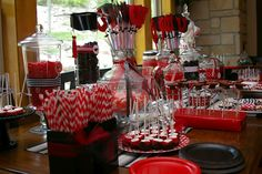"Great graduation party ideas - love the ring pop ""class rings"" Hey Rosana ~ I want to do a candy jar with Ring pop ""class rings"""