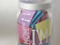 Great idea for when the kids get older- I'm Bored Jar of Activities {Keeping Kids Busy}