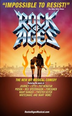 Rock of Ages...can't wait to go and see this!!