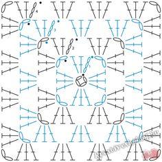 Horgolt nagyi-négyzetek (granny square) - Kreatív+Hobby