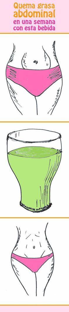 Quema grasa abdominal en una semana con esta bebida #quemagrasa #adelgazar #vientre #abdomenal #perderpeso