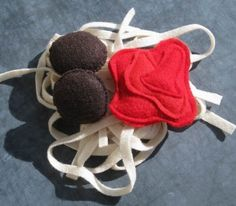 felt food pasta and meatball from etsy