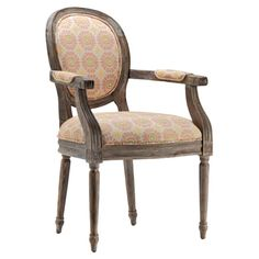 Karen - how about a set of these? Wood arm chair with floral upholstery.  Product: ChairConstruction Material: Wood and fabricColor: