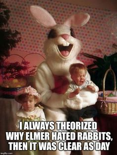 Scared Kids Meet Easter Bunny
