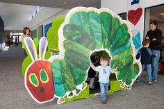 Caterpillar,  Eric Carle Museum by Massachusetts Office of Travel & Tourism, via Flickr