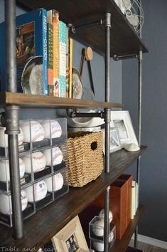 Hometalk :: Easy-Peasy Industrial Pipe Office Shelves